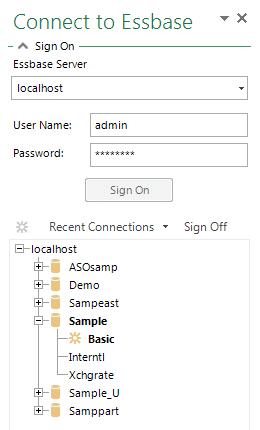 5 SignOn TaskPane | Applied OLAP