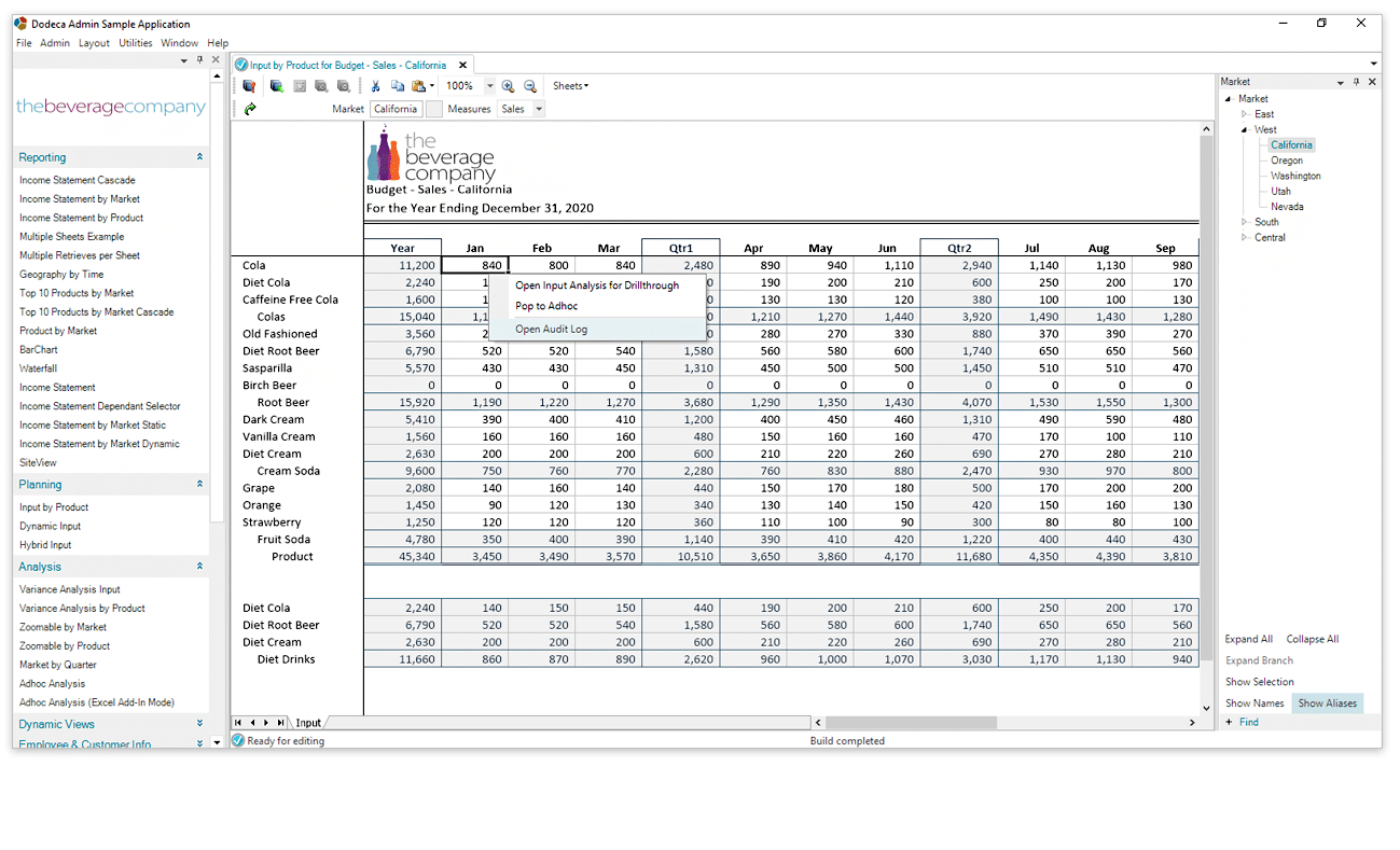 Minimize Spreadsheet Risk with Dodeca Management Spreadsheet System